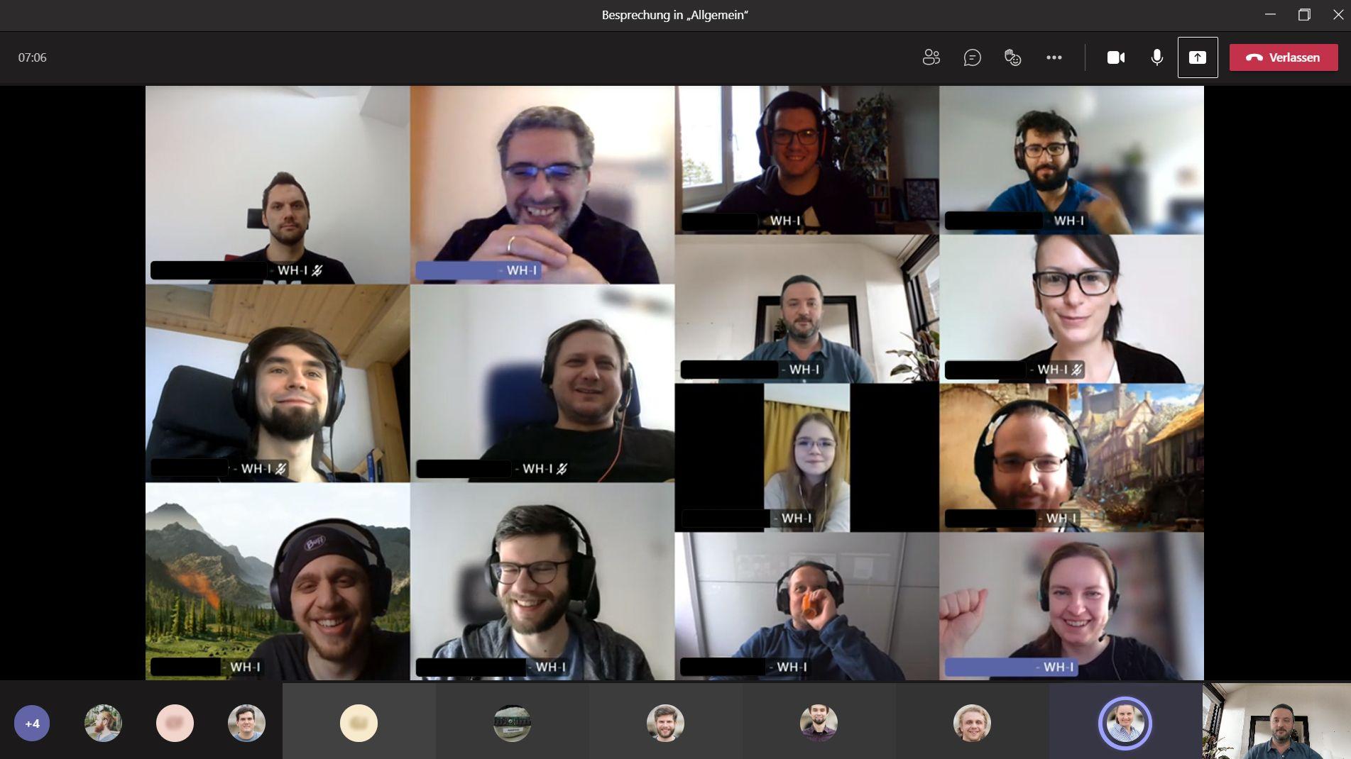 Screenshot Homeoffice - Daily Meeting WH-Interactive