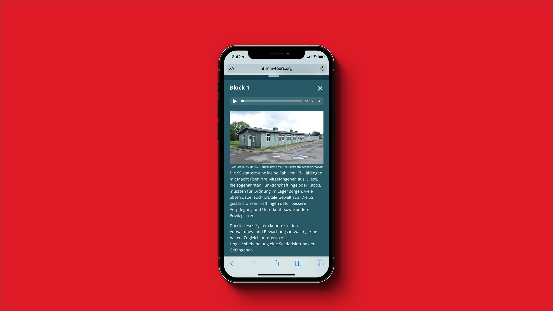 Screenshot Virtueller Guide Mauthausen Memorial - Block 1