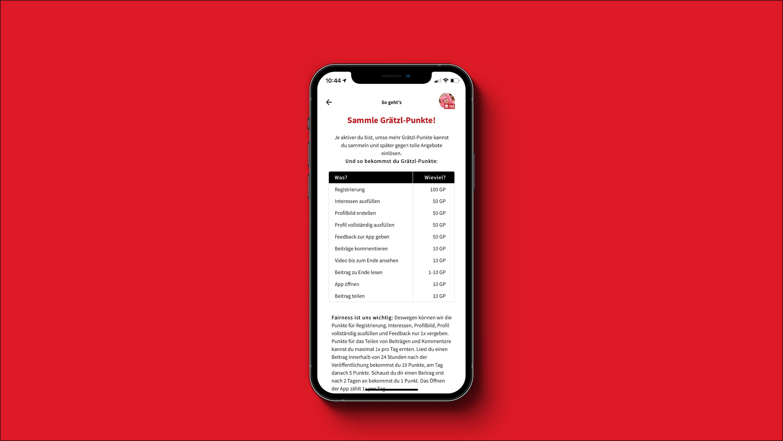 Screenshot dabei! App - Grätzl Punkte Detailseite
