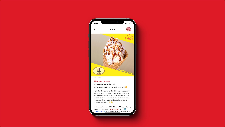 Screenshot dabei! App - Angebot Detailseite