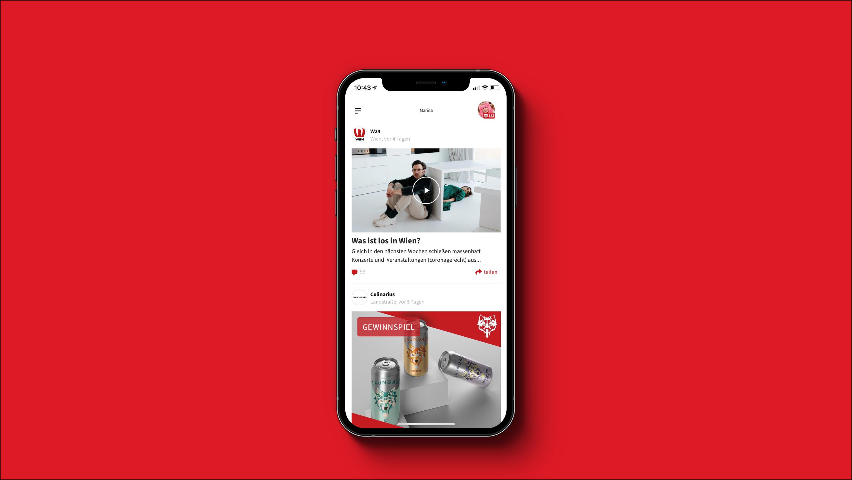 Screenshot dabei! App - Übersicht Feed